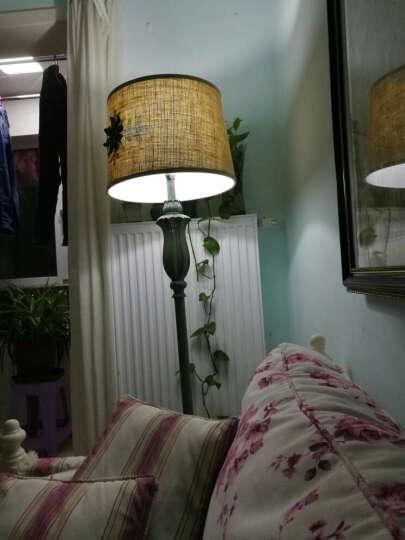 欧美式乡村床头落地式台灯 客厅书房样板房卧室台灯 创意婚庆装饰灯罩 玻璃盘款落地灯 晒单图