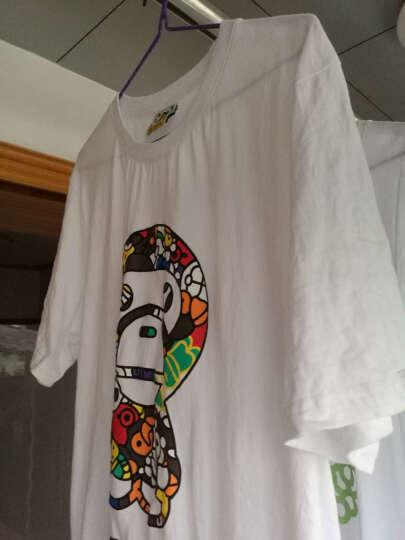 安逸猿 夏短袖女装修身情侣t恤潮牌纯棉韩版情侣T恤装清新纯卡通 白色 男装L码 175/92 晒单图
