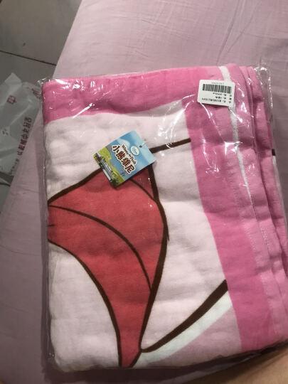 迪士尼(Disney)毛巾家纺 维尼熊甜蜜纱布浴巾 A类纯棉婴儿童正方形抱巾 P粉色 320g 98*98cm 晒单图
