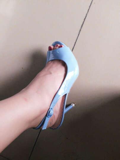 鞋柜/杜拉拉2017春季新款女士性感鱼嘴细跟超高跟鞋时尚甜美女鞋 红色 36 晒单图