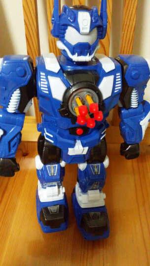 锋源 遥控机器人玩具智能机器人玩具儿童玩具 语音亲子互动对话发射舞蹈对诗猜谜霹雳 霹雳(蓝) 晒单图
