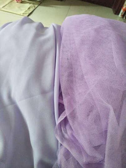 软网纱布料蚊帐纱布料批发服装纱裙面料加密蕾丝网眼纱网纱布料 7号紫色(5米价) 晒单图