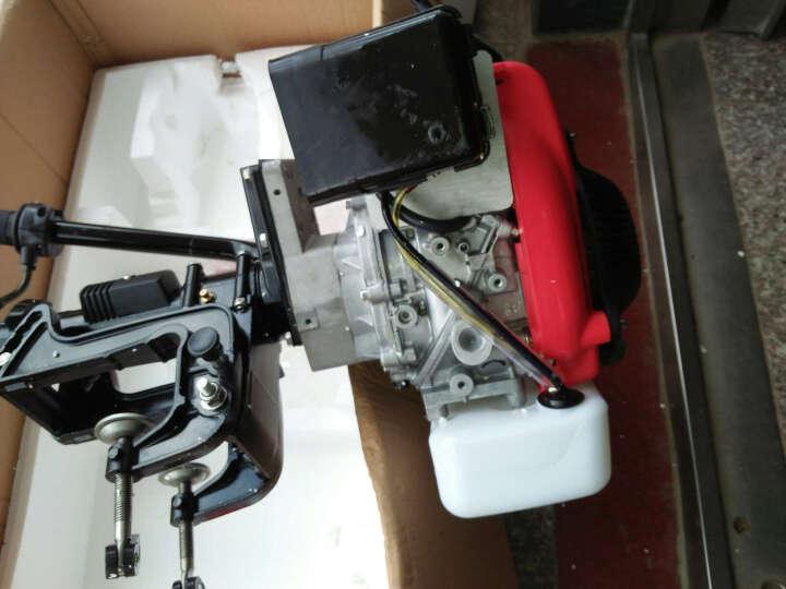 毅旅 船外机冲锋舟钓鱼船充气船橡皮艇皮划艇发动机马达挂机二四冲程推进器 毅旅3.5匹马达两冲程+支架 晒单图
