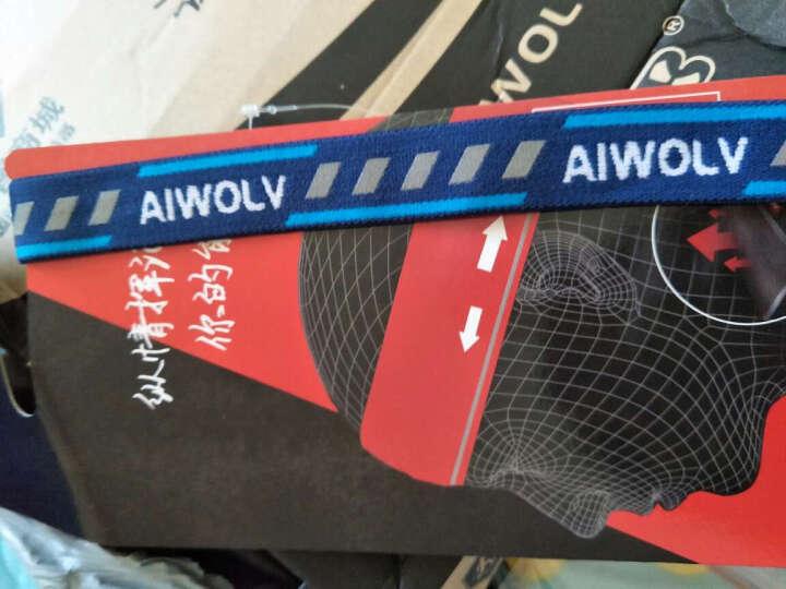 AIWOLV头带运动吸汗发带男潮韩版导汗带马拉松跑步止汗带健身防滑箍女瑜伽 竹纤维/反光条 黑色 晒单图