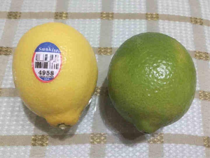 新鲜水果 海南无籽青柠檬500g+新奇士黄柠檬5个 组合装 晒单图