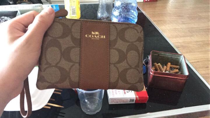 COACH 蔻驰 女士手拿包 卡其色PVC短款零钱包 F54629 IMBDX (54629 IMBDX) 晒单图