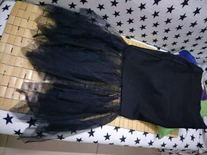 对兰  牛仔半身裙女2017夏季新款时尚女装高腰修身显瘦拼接中长款包臀裙半身裙 牛仔53101 S 晒单图
