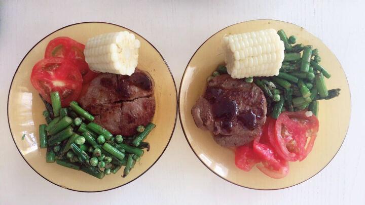 伊赛 家庭牛排套餐1350g 10片 黑椒*5嫩肩*5 生鲜牛肉牛扒 谷饲调理 送料包 晒单图