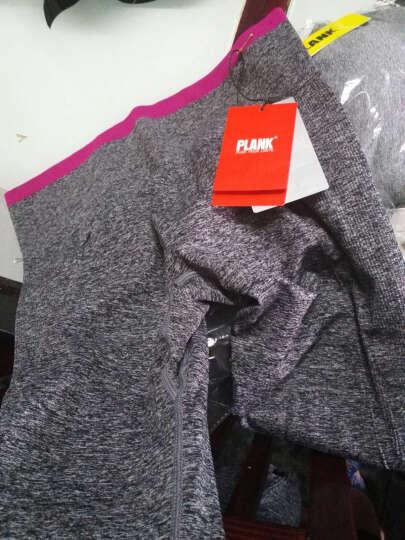 比瘦 PLANK 运动文胸 无钢圈防震吊染运动内衣 渐变色瑜伽跑步健身背心 渐变灰 XL 晒单图