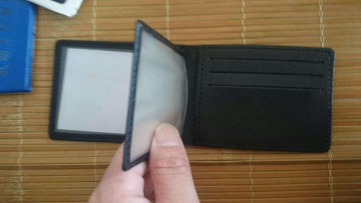 梵士汇(F4Y) 卡包男驾照包 时尚多功能钱夹行驶本大容量名片夹多卡位证件卡包JS-4112黑色 晒单图