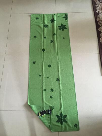哈他瑜伽铺巾 硅胶防滑瑜伽垫毯子 加厚吸汗健身毯 绿色(送收纳包) 晒单图