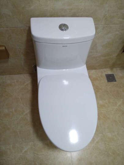 法恩莎(FAENZA)马桶卫浴升级款脲醛盖板座便器喷射虹吸节水坐便器(预售) 400坑距 晒单图