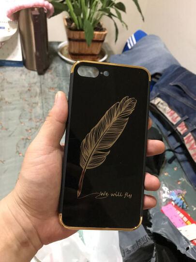 酷乐克 手机壳保护套防摔全包 适用于苹果iphone7/7plus/8plus iPhone7电镀镜面亮黑哈喽-4.7英寸 晒单图