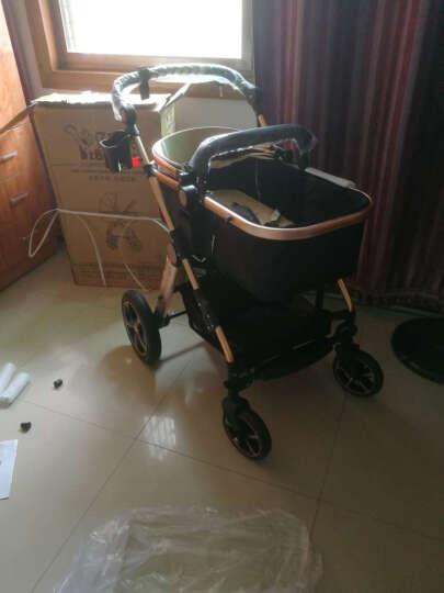 亿宝莱(yibaolai) 婴儿推车儿童高景观可坐可躺婴儿车宝宝童车手推车伞车 V18-B(公主粉)四轮橡胶 晒单图