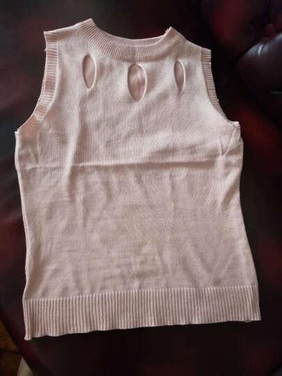 艾卡依 背心吊带女装2018春装新款性感针织衫无袖 667# 粉红色 均码 晒单图