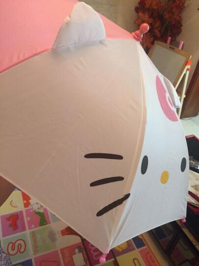 hellokitty幼儿园女童雨伞儿童宝宝创意卡通防晒太阳伞小女孩可爱长柄晴雨伞 粉白 晒单图