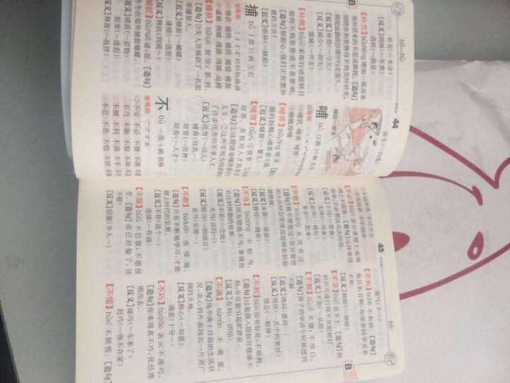 小学生全笔顺:同义近义反义组词造句多音多义字易错易混字词典(双色本) 晒单图