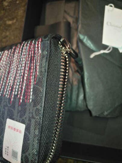 Dior 迪奥 男士DARKLIGHT系列黑底灰色字母图案织物长款拉链钱包钱夹 2DEBC011XIX 00DU 晒单图