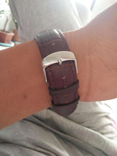 宾格BINGER手表新款全自动机械表镂空男表男士手表J751简约时尚欧美绅士防水皮带腕表 棕皮白面机械表 晒单图