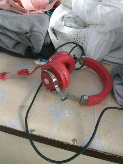 蓝弦 T3代 动感涡轮蓝牙耳机头戴式 无线重低音手机电脑游戏耳麦 红色 晒单图