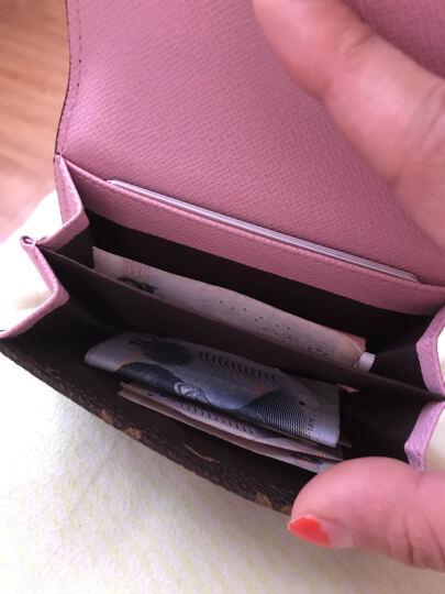 新款卡包女式韩版个性迷你多卡位信用包简约小巧零钱包 粉纽扣 晒单图