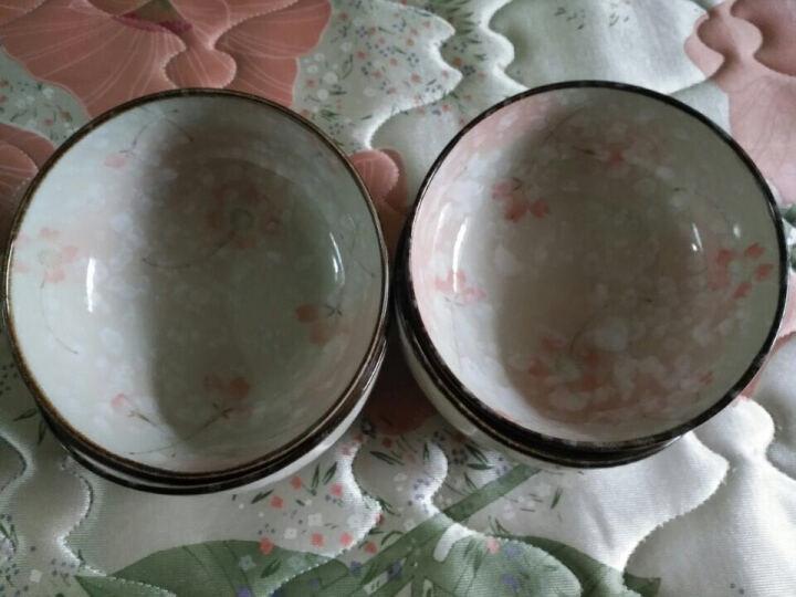 厨美 日韩式雪花釉陶瓷碗套装(4.7英寸)淡雅复古米饭碗汤碗 (6只装)樱花雨 晒单图