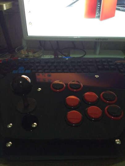 VOIA 无延迟街机摇杆电脑摇杆双人摇杆USB游戏摇杆新款倾斜拳皇游戏机手柄发光水晶摇杆 K2无光版黑红 晒单图