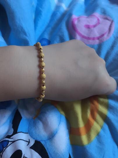 菜百首饰 黄金手链 足金连珠款磨砂光沙珠手链 计价 足金 约7.17克 约16厘米 晒单图