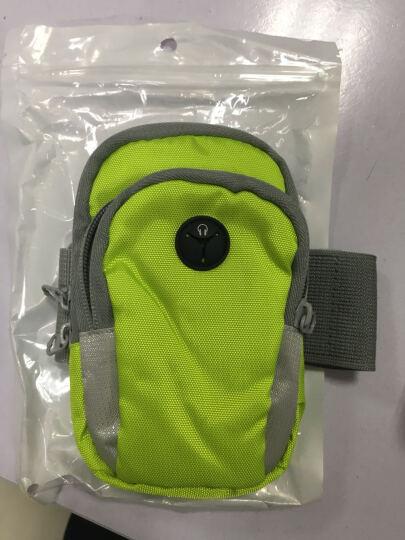 圣迪威户外跑步臂包/运动臂包/手机臂带 苹果7/6s/华为/小米4C/三星/OPPO手腕包 带耳机孔 5英寸中号绿色 晒单图