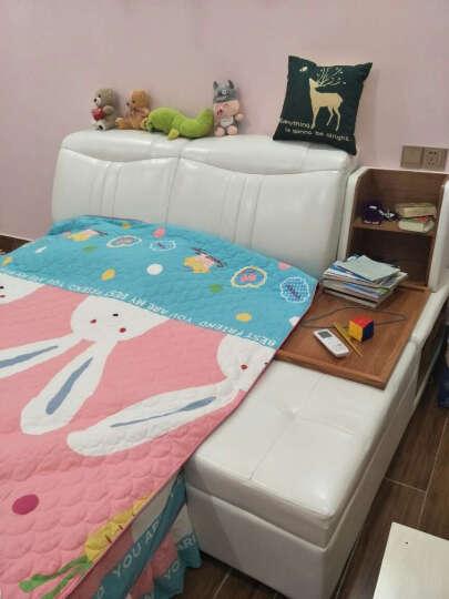 乐和居 床 皮艺床 1.8米榻榻米双人床 北欧式简约软床 米白色 1.5米单床+榻榻米+弹簧床垫030 晒单图