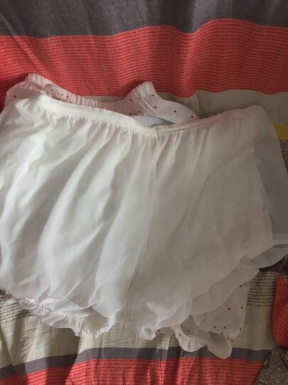 灿莎 打底裤半透灯笼裤薄纱可外穿短款安全裤打底裤防走光 白色 均码 晒单图