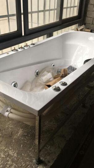 巴斯玛(BATHMALL) 巴斯玛 嵌入式浴缸亚克力浴缸家用浴缸浴盆小户型泳池多尺寸浴桶 空缸+银色五件套(龙头在左/含支架) 约1.6米 晒单图