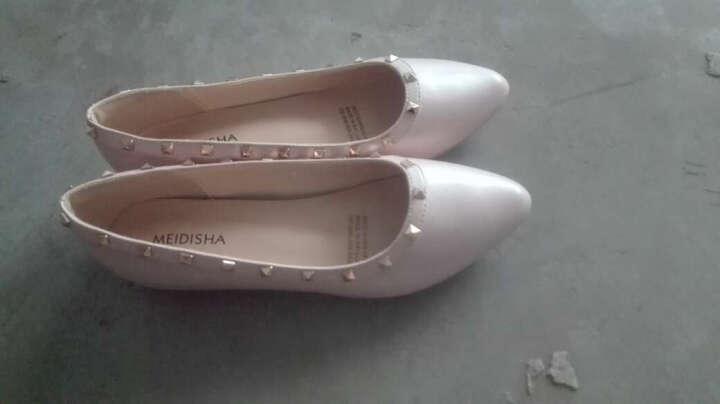 玫蒂莎(MDIS∧) 四季青春款潮流柳钉舒适休闲单鞋女 Y1861 粉色 39码 晒单图
