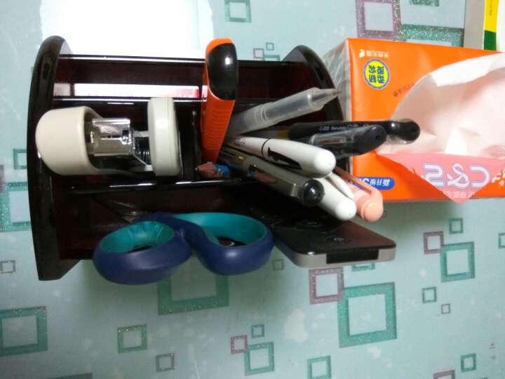 信发(TRNFA) TN-A03 笔筒木质收纳座 办公桌面整理置物柜 化妆品遥控器收纳用品架 晒单图