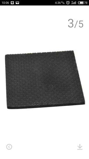 EVA橡胶强粘力不干胶桌椅垫垫脚桌椅脚垫家具垫脚垫脚垫保护垫黑色5mm厚规格齐全 8.7cm*8.7cm正方形(1片装) 晒单图