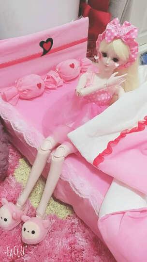 60厘米娃娃鞋子配件三分娃换装运动鞋拖鞋高跟鞋儿童玩具适用三分娃换装女鞋时尚公主鞋子 粉色兔兔毛绒拖鞋 晒单图