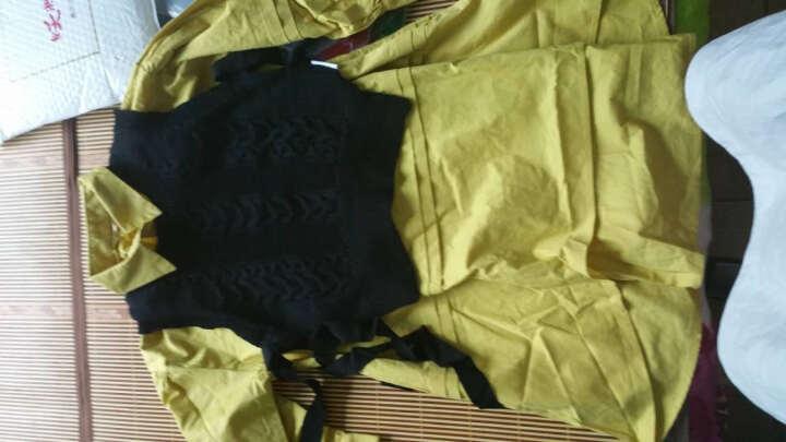 森宿 长袖连衣裙女新品纯棉棉麻灯笼袖A字短裙套装春新款 品各种甜 柔粉 M 晒单图