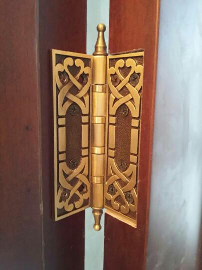 老铜匠 仿古铜质合页欧式静音花板轴承铜合页5寸加长加厚 MH500802 咖啡古铜色 晒单图