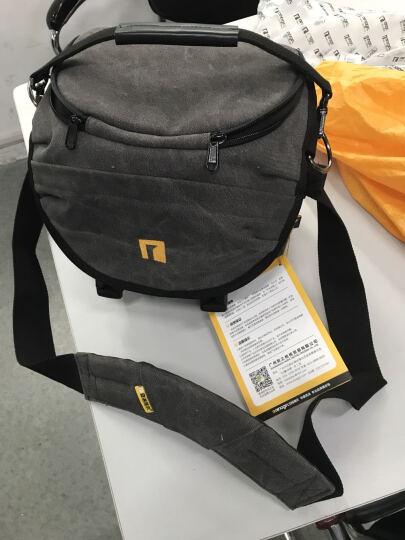 安诺格尔(ainogirl) 摄影包 单肩单反相机包适用佳能尼康相机 月牙形肩带独特造型 碳黑色 炭黑色三代-小号 晒单图