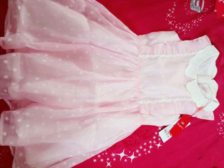 笛莎 DEESHA 女童短袖T恤 中大童短袖小女孩儿童圆领T恤上衣911722600粉紫120 晒单图