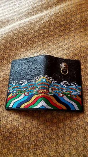初弎护照本保护套潮牌男复古中国风狮子头牛皮套多卡位卡包44060 铜狮 晒单图