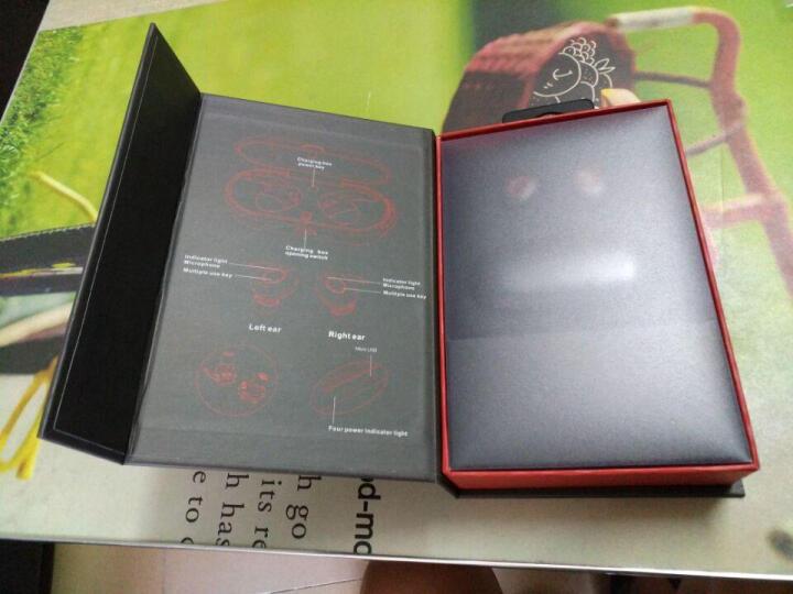 【限时秒杀】金骅洋 蓝牙耳机真无线双耳迷你超小隐形运动跑步重低音苹果iphone华为小米通用型 魅力红 晒单图