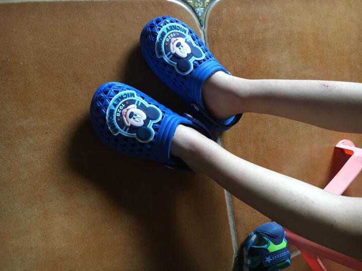 迪士尼儿童凉拖鞋男童女童鞋夏新宝宝室内防滑浴室家居拖鞋洞洞鞋 MP18482/18483玫红 210mm/内长205mm 晒单图
