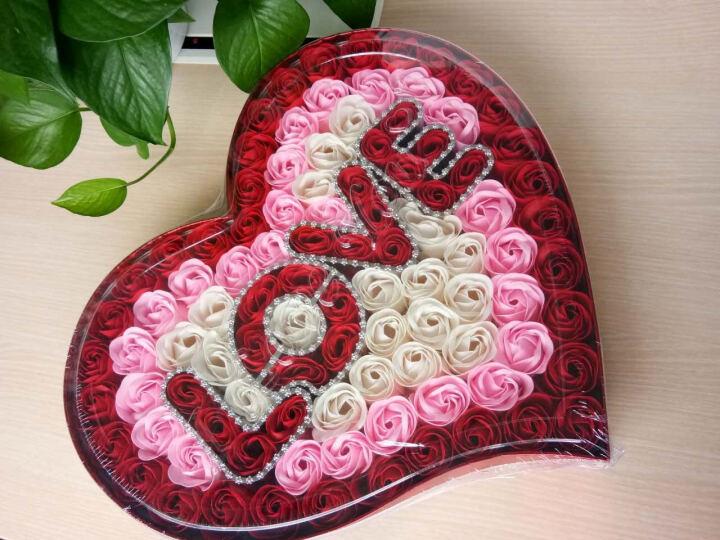 I'M HUA HUA118朵爱心红色香皂花玫瑰花礼盒情侣保鲜花速递同城生日礼物七夕情人节鲜花礼物送女生女友 晒单图