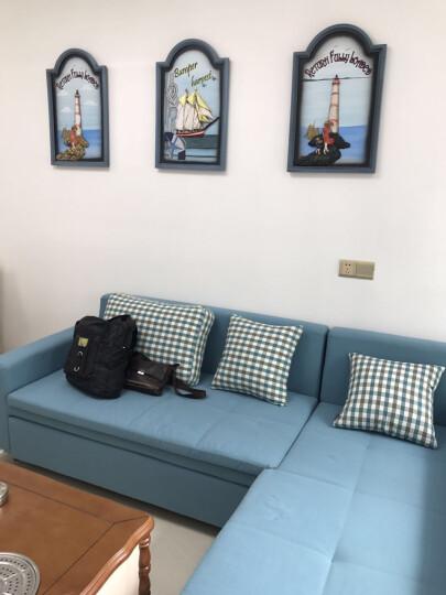 Snnei室内 客厅装饰画走廊挂画 复古木板画壁饰 家居立体墙贴地中海风格立体浮雕墙壁画 守望幸福-灯塔款2 晒单图