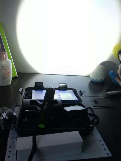 自行车前灯迷你强光变焦手电筒户外充电式远射防水防身变焦远射王500米 银色+1电+直充+座充连接器 晒单图