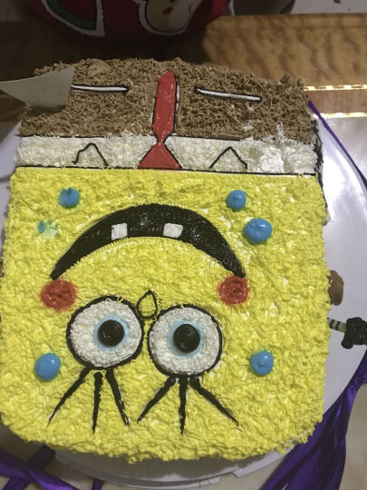 蜜司(Missing) 儿童生日蛋糕同城配送全国配送卡通定制创意蛋糕可爱海绵宝宝同城蛋糕店北京成都 10寸 晒单图