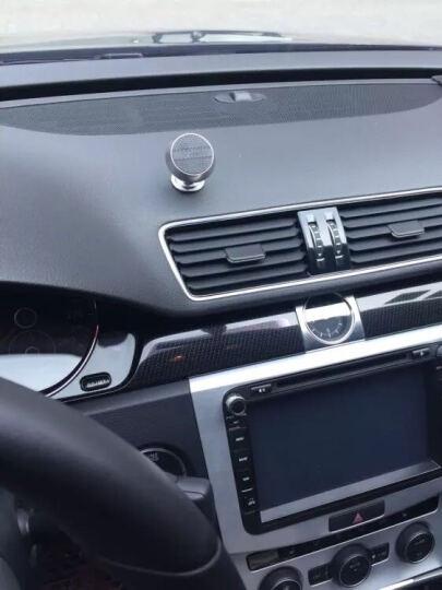 岳迩车载手机支架磁铁汽车出风口通用多功能磁吸式汽车导航座吸盘式磁性仪表台手机架 仪表台一代-玫瑰金 晒单图
