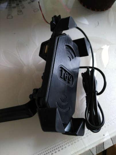 摩托车手机支架usb充电器通用电动车车载导航夹自行车手机架 黑色后视镜款带充电 晒单图