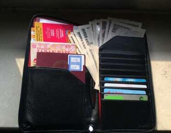 德国Modern创意多功能护照包 真皮韩版拉链机票夹 旅行护照夹收纳包证件袋 商务长款大容量钱包卡夹 黑红色带笔 晒单图